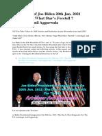 Oath Chart of Joe Biden 20th Jan