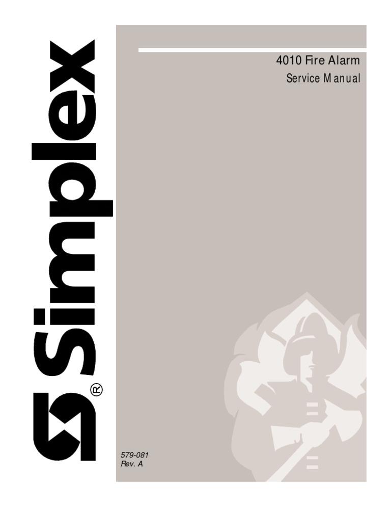simplex 4010 manual de service power supply fire sprinkler system rh scribd com Simplex 4020 Fire Panel simplex 4020 user manual