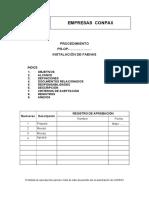 Procedimiento de Instalacion de Faenas Empresas CONPAX