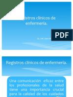 Registros clínicos de enfermería