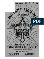 1916 02 Feb Rays From the Rose Cross