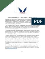 Fidelis Publishing Press Release, 1600 22 Jan 2021