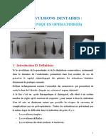 EXTRACTIavulsion techniques operatoireONS DENTAIRES TECHNIQUE OPERATOIRE Dr. BOUMAZA