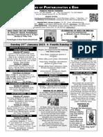 Portarlington Parish Newsletter 31st January 2021