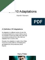 Unit 10 Adaptations