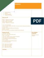 Regionals Itinerary 2011