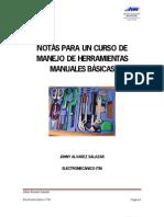 NOTAS PARA UN CURSO DE MANEJO DE HERRAMIENTAS BASICAS MANUALES