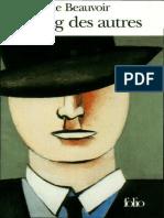 Simone de Beauvoir - Le Sang des Autres