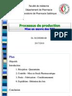 Processus de production selon BPF