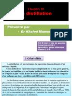 Chapitre 5. La Distillation