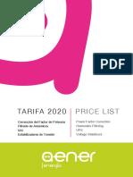 202012 Aener Energía Tarifa 2020