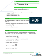 Trigonometrie 3 Exercices Corrigé