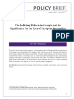 The Judiciary Reform in Georgia and its Significance for the Idea of European Integration
