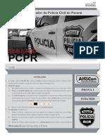 AlfaCon Simulado 19-04-2020 Investigador Papiloscopista Pcpr Prova Comentada Gabarito