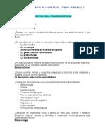 Cuestionario del Curso de Empresas 1