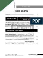 Índice general de la revista Actualidad Penal