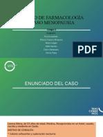 APOYO DE FARMACOLOGÍA CASO MENOPAUSIA