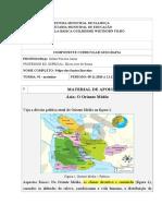 Atividade complementares - 14º quinzena - Geografia