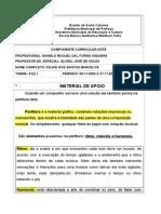 Atividade complementares - 14º quinzena - Artes