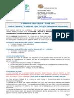 information familles - oral DNB 2020