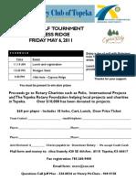 Topeka Rotary Club Golf Tournament