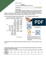 Activité 2 Classification périodique
