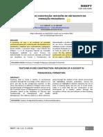 8 PROFESSOR EM (RE) CONSTRUÇÃO REFLEXÕES DE UM DOCENTE EM FORMAÇÃO PEDAGÓGICA