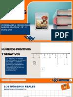 Números Reales, Propiedades y Suma Algebraica