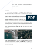 Discuss the role of land-use planning and zoning for the mitigation of earthquake hazards globally (2010)