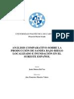 Análisis Comparativo Sobre Riego Goteo e Inundacion en Sandia