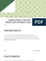 Planification Et Suivi Des Projets Avec MS Project_Présentation de Formation_ V2