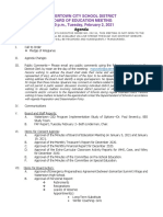 Watertown City School District Board of Education agenda Feb. 2, 2021