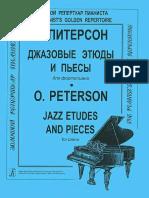 O Piterson - Dzhazovye Etyudy i Pyesy