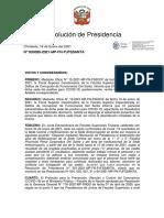 RESOLUCION DE PRESIDENCIA