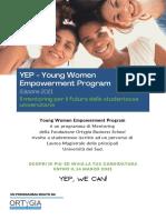 Bando YEP - Programma Edizione 2021