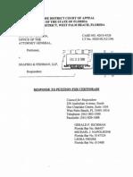 Shapiro Fishman Response to Petition Certiorari