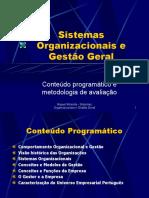 Sistemas Organizacionais e Gestão Geral