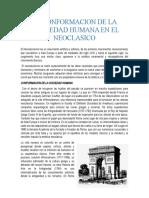 LA CONFORMACION DE LA SOCIAEDAD HUMANA EN EL NEOCLASICO