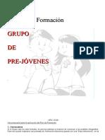 Plan de Formación Pre Adolescentes