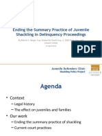 Ending the Summary Practice of Juvenile Shackling in Delinquency Proceedings