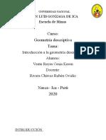 Informe Sobre Geometría Descriptica Cesia