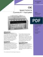CSC Cummins (PT) Speed Control PS 04181