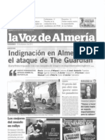 La Voz de Almería contra el artículo del The Guardian