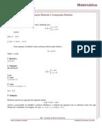 Equação e Inequação Modular