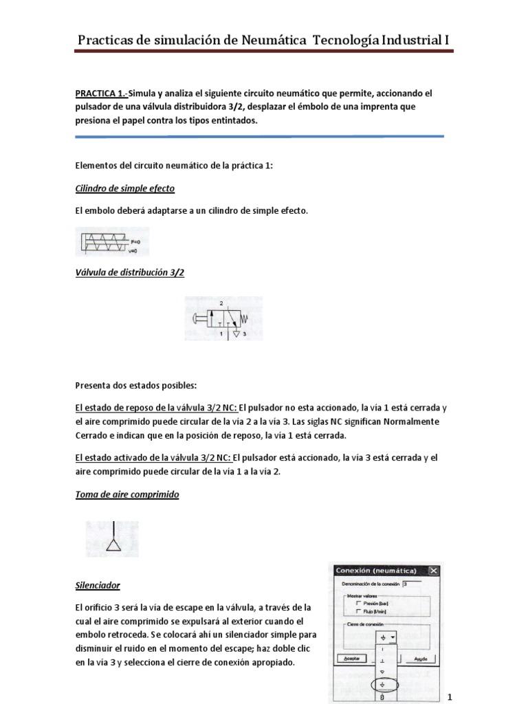 Circuito Neumatico Basico : Practica1 neumatica festo fluidsim entra u2014 sceneups