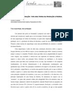 A PERFORMANCE  E  CRIAÇÃO  POR UMA TEORIA DA PRODUÇÃO LITERÁRIA