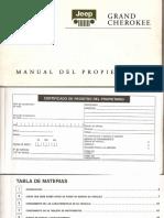 WJ - Jeep Grand Cherokee WJ 2000 - Manual Usuario en español