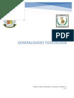 1.GENERALIDADES TOXICOLOGIA