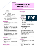 1. Fundamentals of Mathematics L-1 to 22