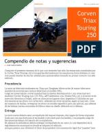 Touring 250 - Compendio de notas y sugerencias (Rev1.2)